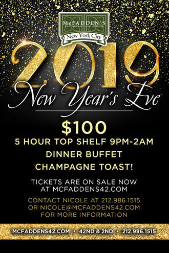 New Year's Eve at McFadden's NYC
