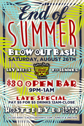End of Summer Bash Blowout Bash