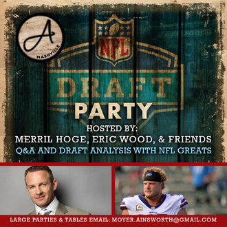 NFL Draft Party hosted Merril Hoge, Eric Wood, and friends