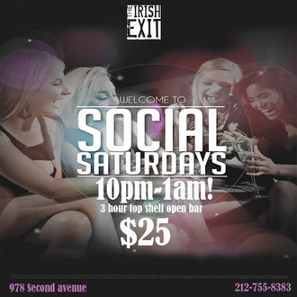 Social Saturdays @ The Irish Exit
